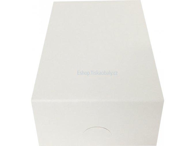 Krabice na dort bílá, skládaná, lepená, 125x210x70 mm