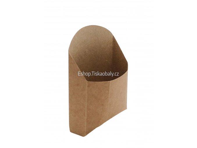 Krabička na tortillu nebo wrap, hnědo-hnědý kompostovatelný papír, 11x4,5x13,5 cm