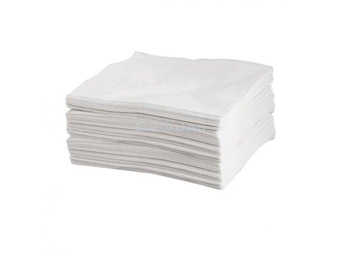 Ubrousky bílé, 1 vrstva, 33x33 cm