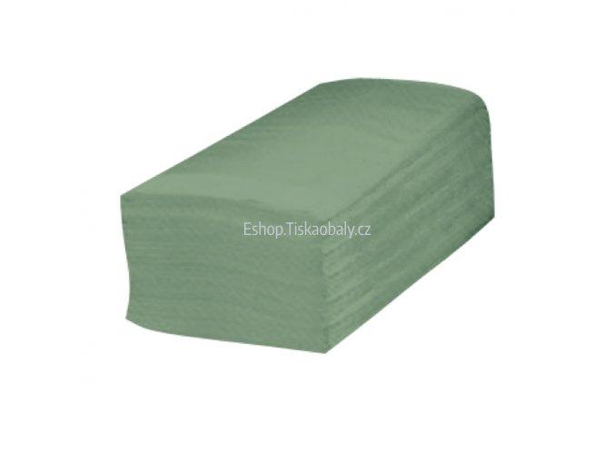 Ubrousky zelené ZZ do zásobníku, 1 vrstva, 25x23 cm