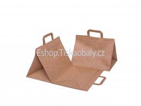 T10010 paper flat handles brown 320x220x245