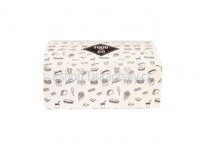 Krabička na jídlo papírová, 18x12,5x7 cm