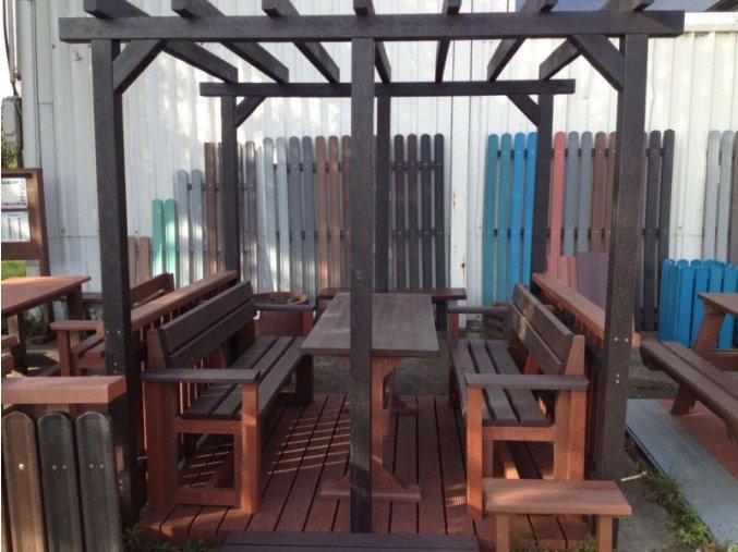 Lavicky Stoly Zahradny nabytok 1 stol 2 lavicky45