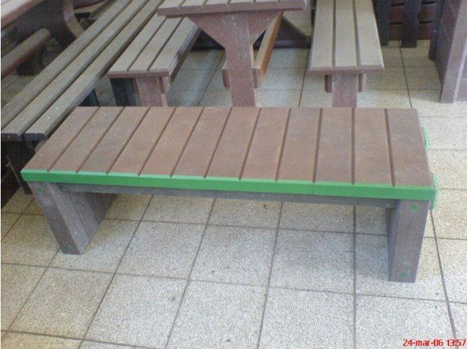 02 fh. Dosková lavička kombinovaná s hranolmi