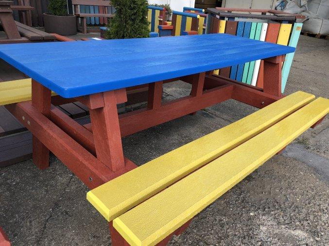 02 jb malý detský piknik stôl, farebný 140 cm (13)