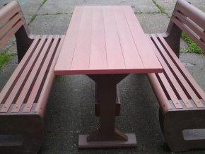 02 gb. Klasický stôl z dosák