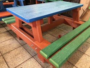 02 jb malý detský piknik stôl, farebný 140 cm (6)