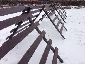 13 a. Snehová zábrana klasická malá