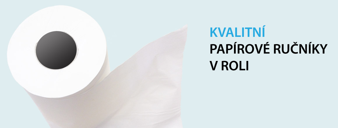 kvalitní papírové ručníky v roli