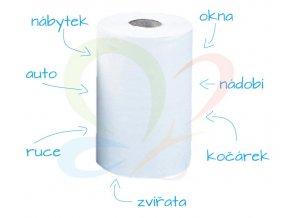 Papírové ručníky v roli - balení 12ks