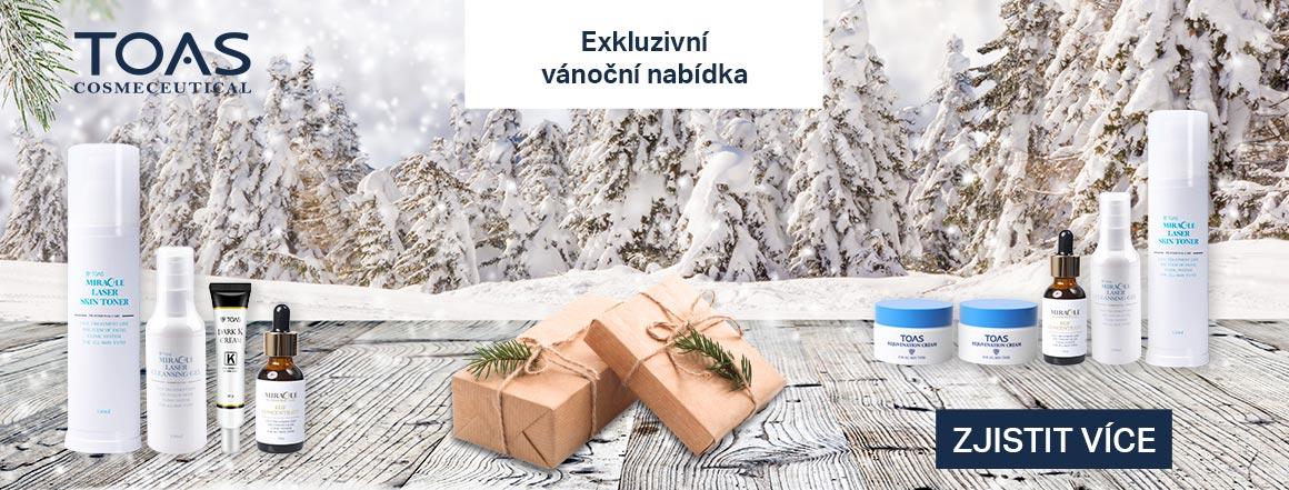 vánoční balíčky kosmetiky TOAS