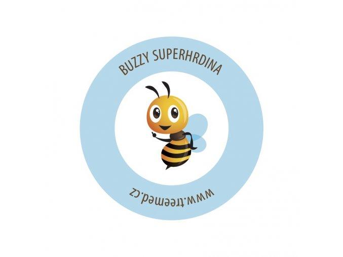 buzzy nalepka superhero 70x70mm real 50x50mm v4