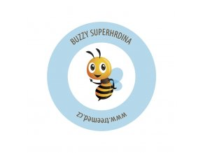 buzzy nalepka superhero 70x70mm real 50x50mm v4