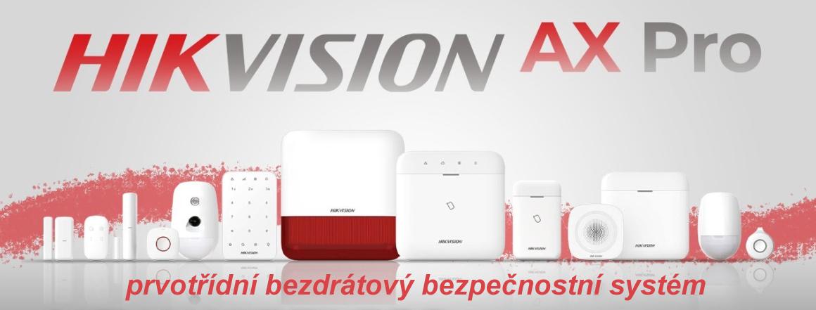 Prvotřídní bezdrátový bezpečnostní systém HIKVISION AX PRO