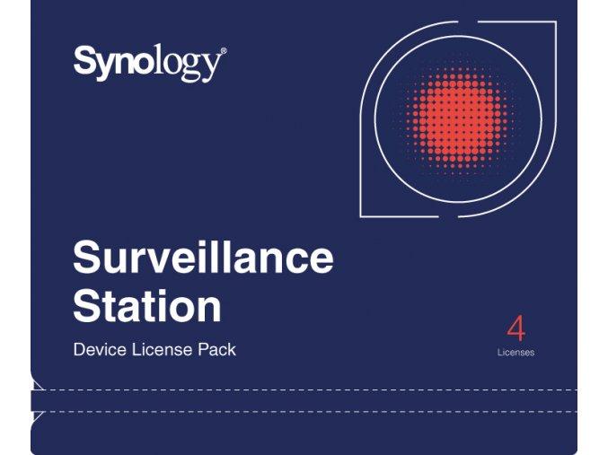 Licence pro 4 IP kamery pro NAS Synology