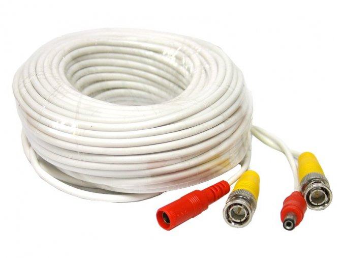 6353 kabel koaxialni s bnc napajeni 18 metru bily