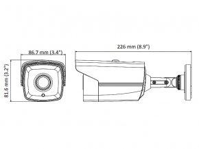DS-2CE16D8T-IT3F(BLACK)(2.8mm)  + SLEVA po registraci