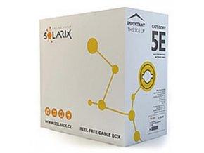 Kabel licna Solarix CAT5E UTP PVC šedý 305m/box SXKL-5E-UTP-PVC-GY