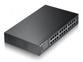 2430 zyxel 24xgb fanless rack switch gs1100 24e
