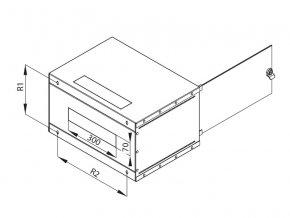 Nástěnný rozvaděč jednodílný 4U (š)600x(h)395