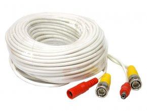 6356 kabel koaxialni s bnc napajeni 22 metru bily