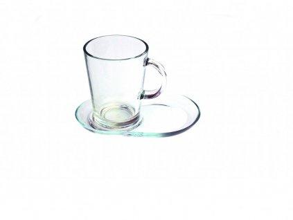 Sklenice na čaj s podšálkem