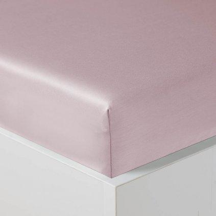 Dětské prostěradlo Veba s gumou GEON Mossy white růžová