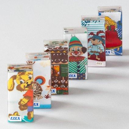 Dětské kapesníky v průhledné krabičce