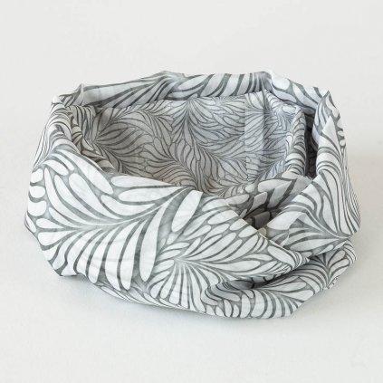 Tunelový šátek Veba MOSSY WHITE