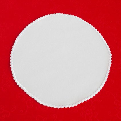 Ubrus Veba ATHOS bavlněný satén bílá s festonem
