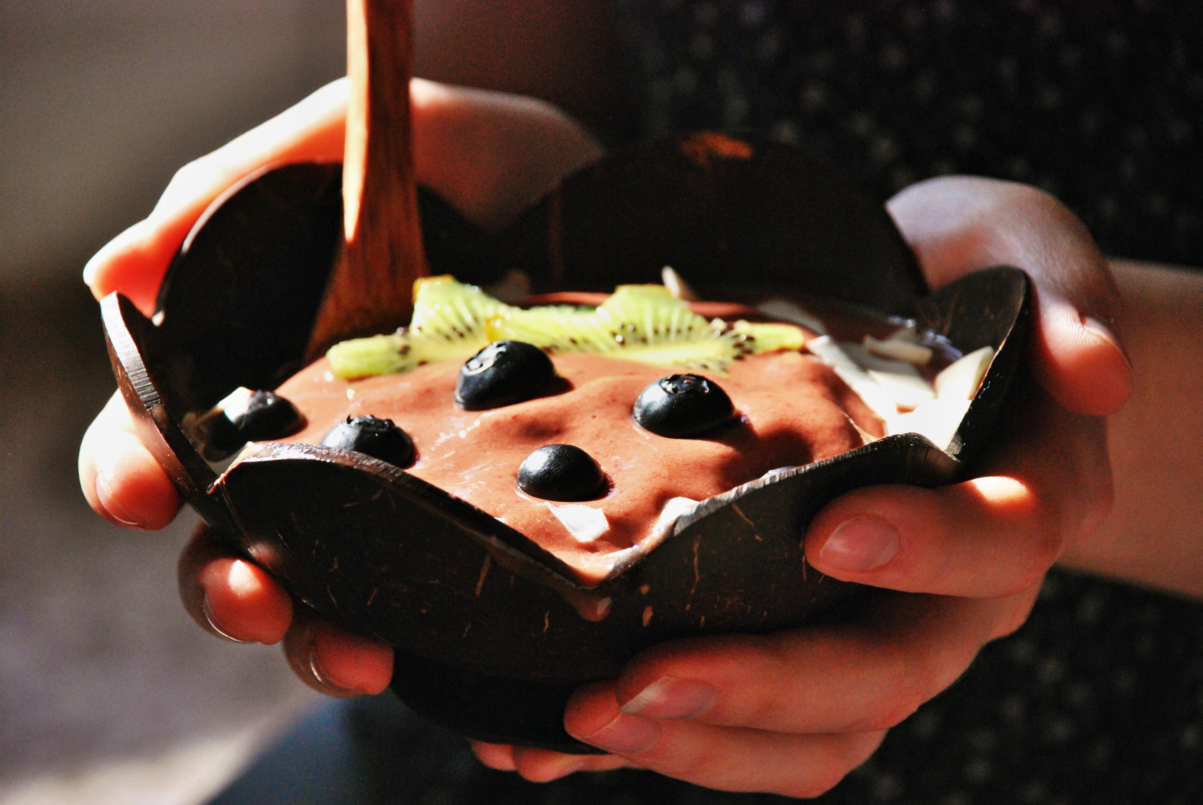 Čokoládová smoothie bowl