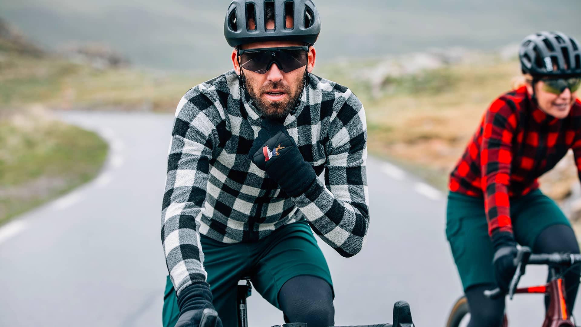 Pánský dres na kolo s dlouhým rukávem Café du Cycliste