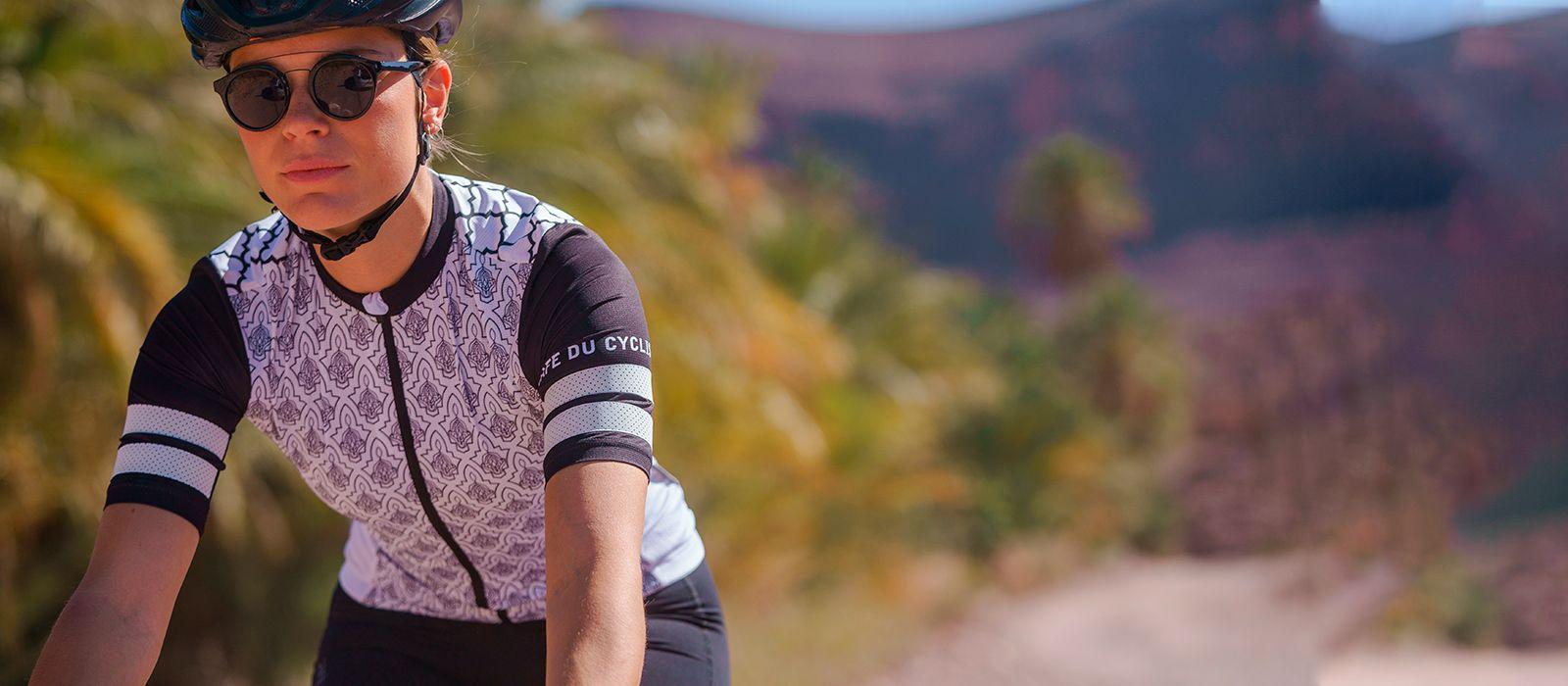 Dámský cyklistický dres, cyklo dres na kolo s krátkým rukávem Tichka navy blue