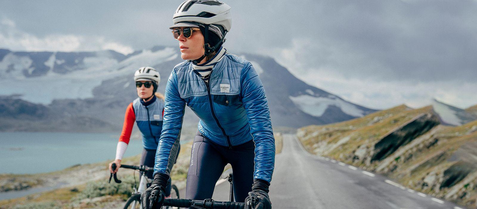 Zimní cyklo bunda na kolo Café du Cycliste ALBERTINE modrá