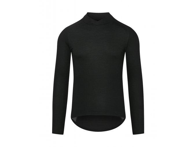 CAFÉ DU CYCLISTE - pánská cyklistická trika - funkční cyklo tričko s dlouhým rukávem COSETTE černá