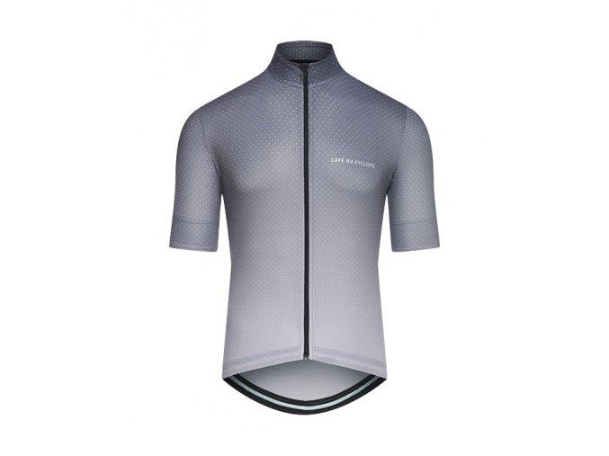 CAFÉ DU CYCLISTE - pánský cyklistický dres - cyklodres FLEURETTE Shaded šedá