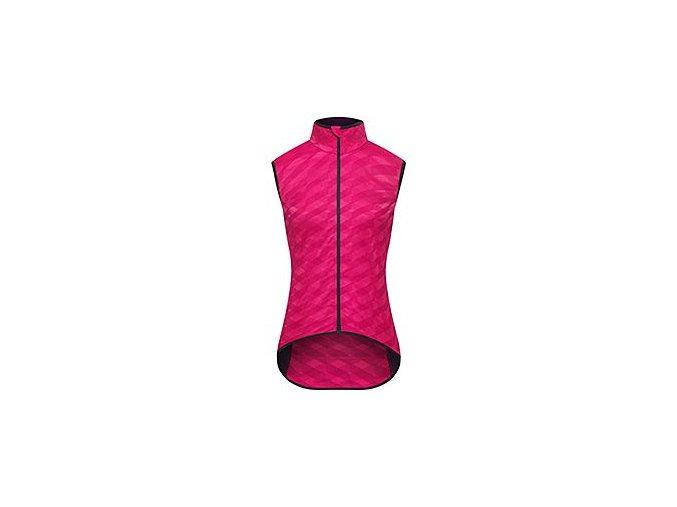 CAFÉ DU CYCLISTE - dámské cyklistické vesty - cyklovesta WOMEN'S JACQUELINE Audax růžová