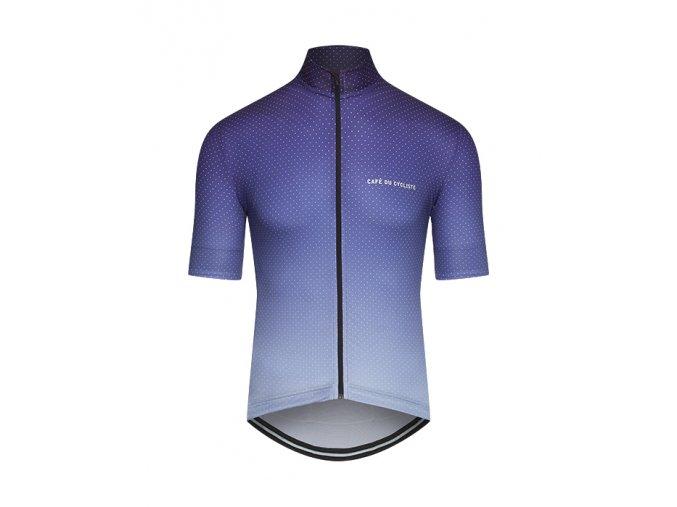 Dámský dres na kolo FLEURETTE - stínovaná modrá