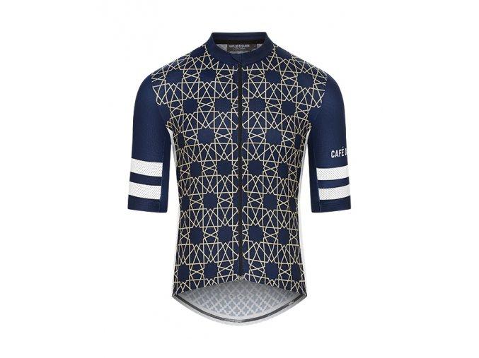 CAFÉ DU CYCLISTE - pánský cyklistický dres - cyklodres TICHKA námořní modrá