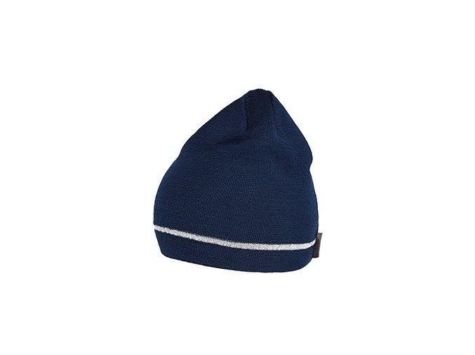 Zimní čepice - Merino DIANE - námořní modrá