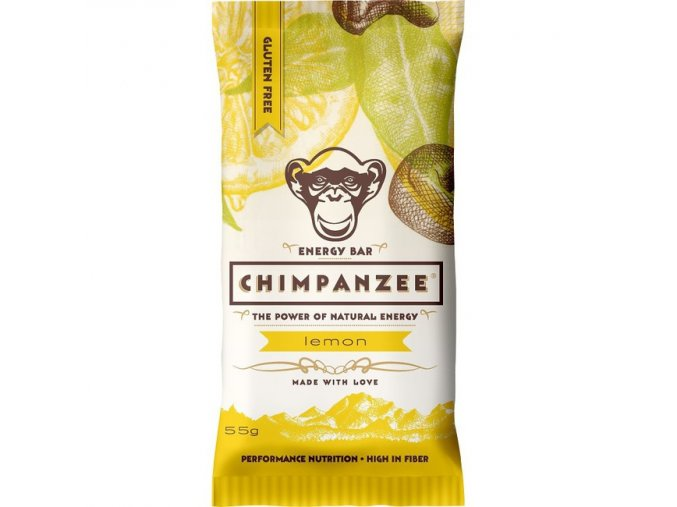 Energetické tyčinky - energetická tyčinka CHIMPANZEE ENERGY BAR Lemon 55g
