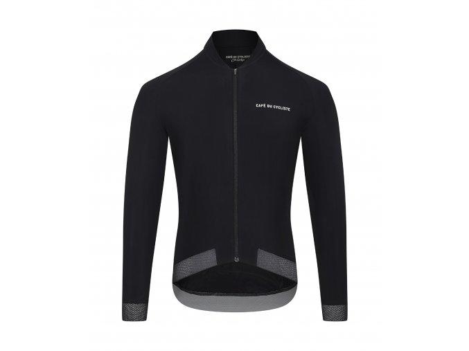 CAFÉ DU CYCLISTE - pánský cyklistický dres na kolo s dlouhým rukávem DAPHNÉ černý
