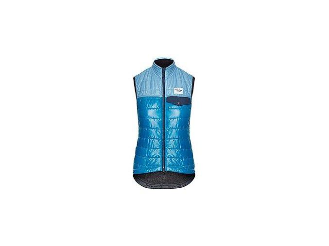 CAFÉ DU CYCLISTE - dámské cyklistické vesty - windstopper vesta Merino WOMEN'S ALBERTINE modrá