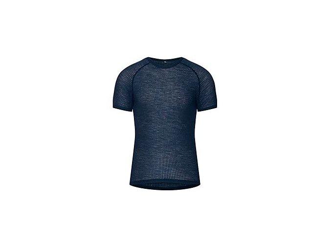 CAFÉ DU CYCLISTE - pánská cyklistická trika - funkční cyklo tričko Merino GABRIELLE námořní modrá