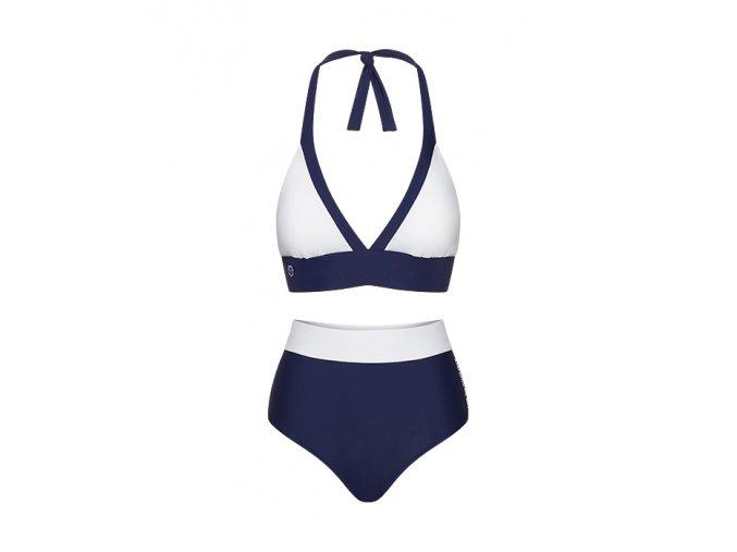 Dámské plavky LAURA námořní modrá a bílá