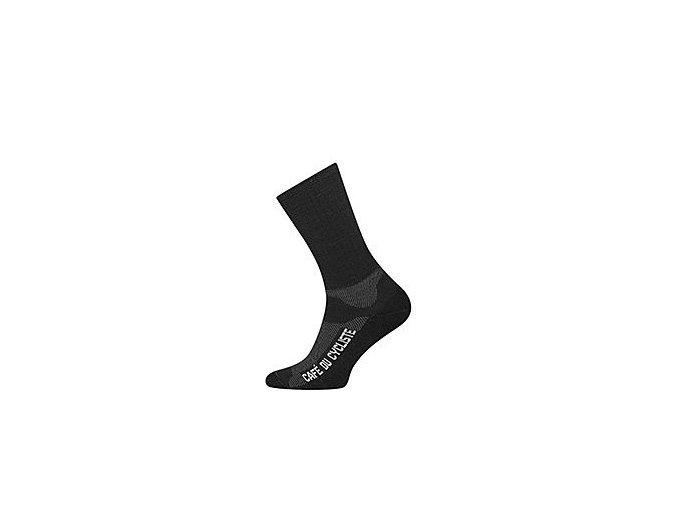 Zimní ponožky na kolo Merino PRIMALOFT černá