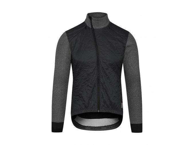 CAFÉ DU CYCLISTE - podzimní / zimní cyklistická bunda merino HEIDI černá