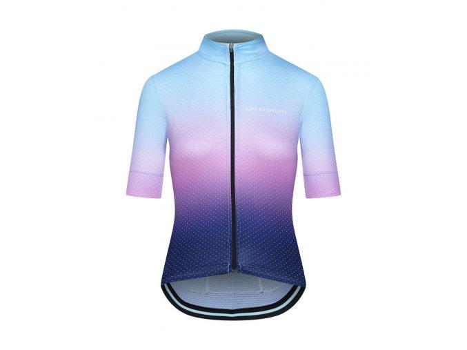 Dámský dres na kolo FLEURETTE - stínovaná modro fialová