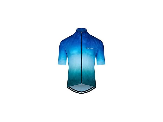 Cyklodres FLEURETTE - stínovaná modro zelená