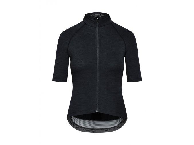 Dámský dres na kolo MERINO MARINA - černá